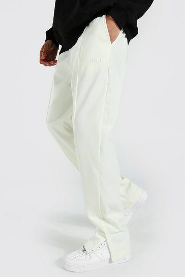 Ecru white Tall Tricot Relaxed Fit Pintuck Joggers