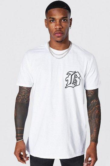 White B Print T-shirt