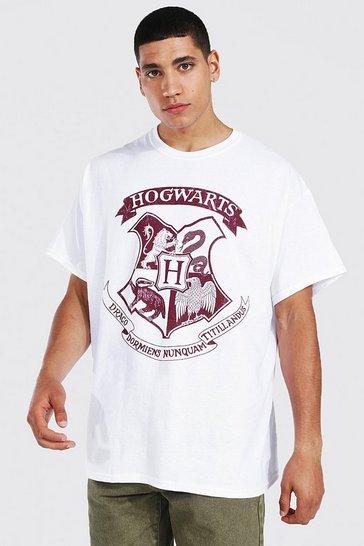 White Harry Potter Hogwarts License T-shirt