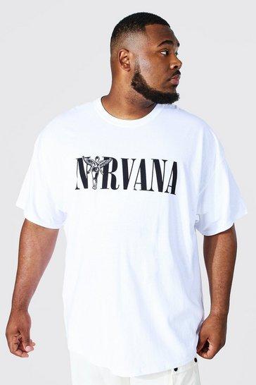 White Plus Nirvana License T-shirt