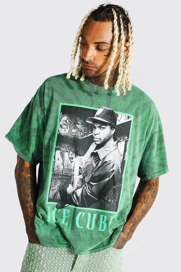Green Oversized Ice Cube Tie Dye T-shirt