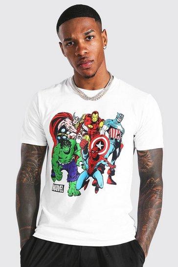 White Marvel Character License T-shirt