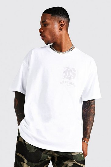 White Oversized Ofcl Man Tonal Print T-shirt