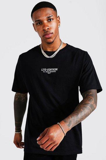 Black Oversized Worldwide Print T-shirt
