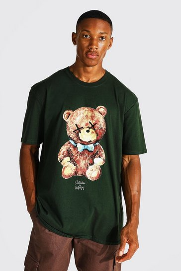 Green Oversized Man Teddy Collection T-shirt