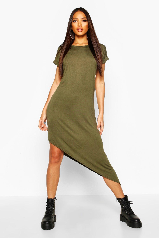 Womens Sale Asymmetric T-Shirt Midi Dress