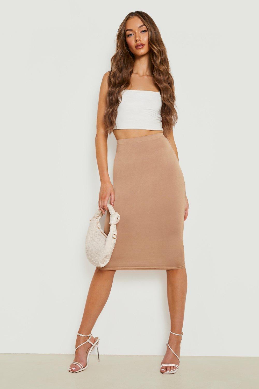 Skirts Basic Jersey Midi Skirt
