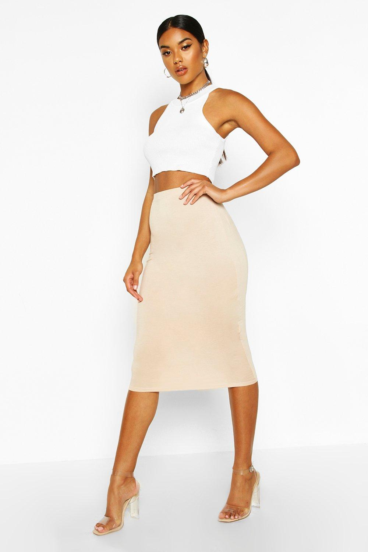 Basic Jersey Midi Skirt   boohoo