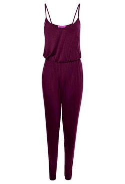 Berry Basic Cami Jumpsuit