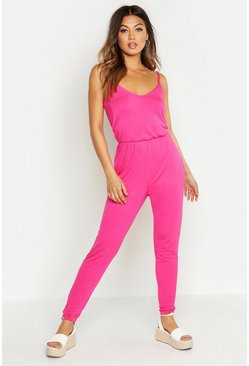Hot pink Basic Cami Jumpsuit