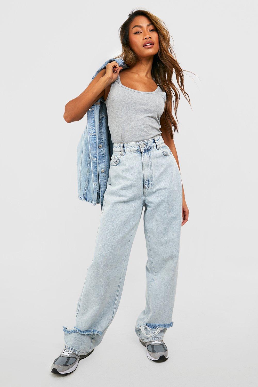 WOMENS Grey Marl Basic Wide Strap Vest