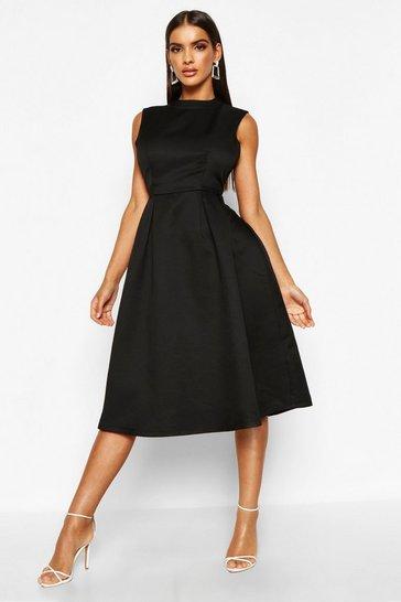 Black Boutique High Neck Prom Dress