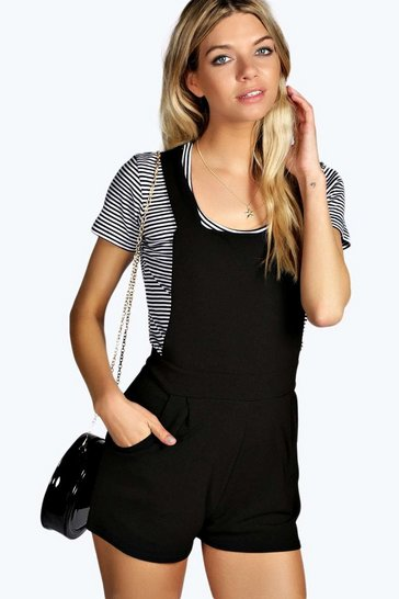 Black Dalia Dungaree Playsuit