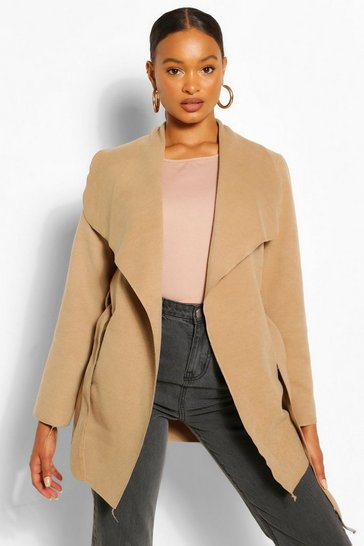 Camel beige Waterfall Coat