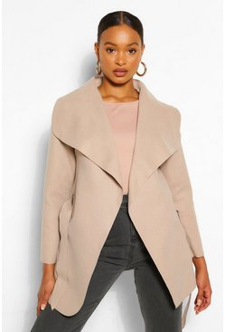 Stone beige Waterfall Coat