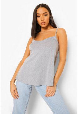 Grey marl grey Basic Swing Cami