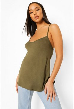 Khaki Basic Swing Cami