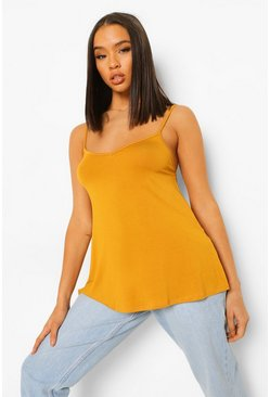 Mustard yellow Basic Swing Cami