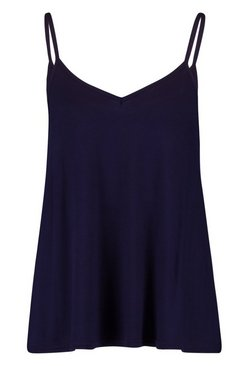 Navy Basic Swing Cami