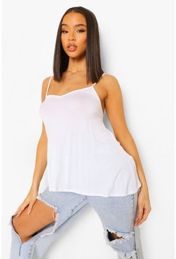 White Basic Swing Cami