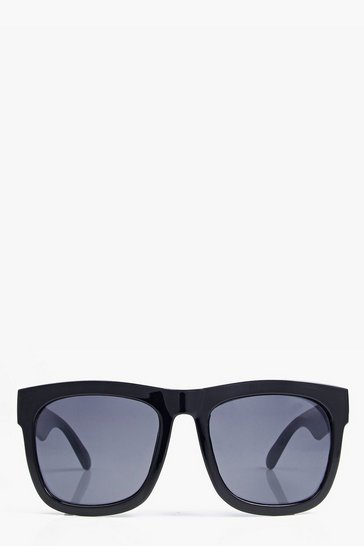 Black Sophia Oversized Square Fashion Glasses