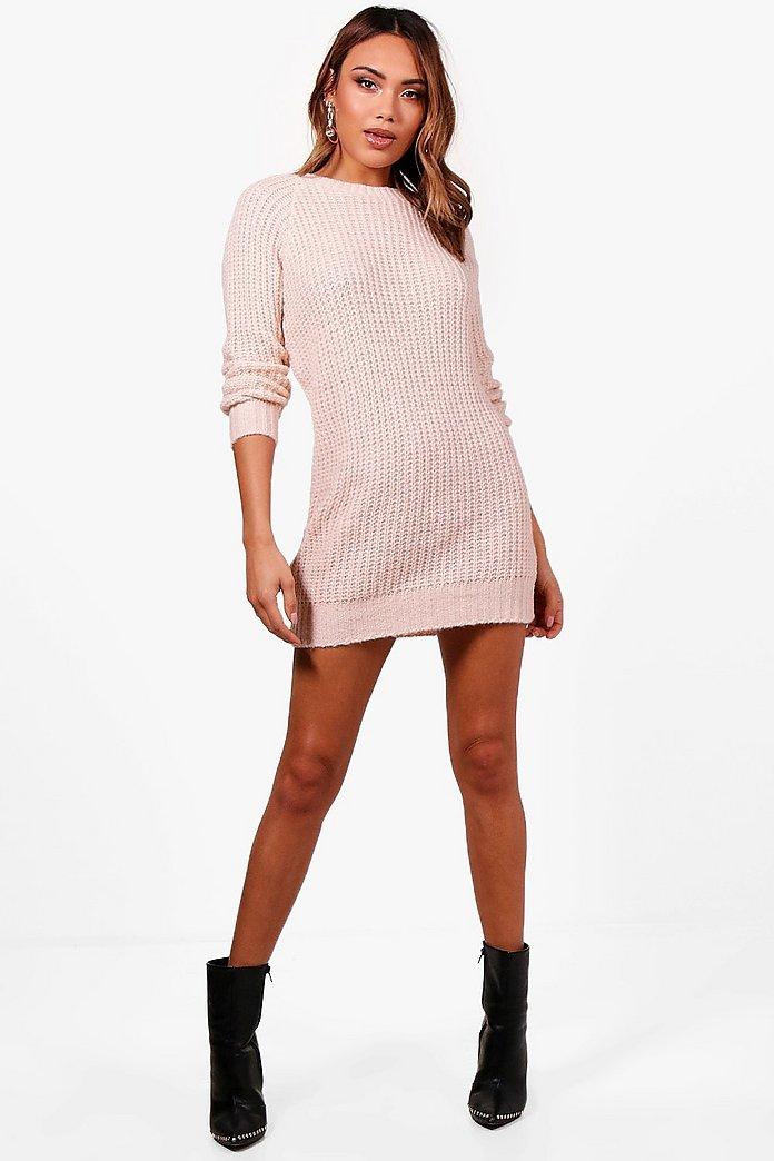 Soft Knit Sweater Dress   boohoo Canada