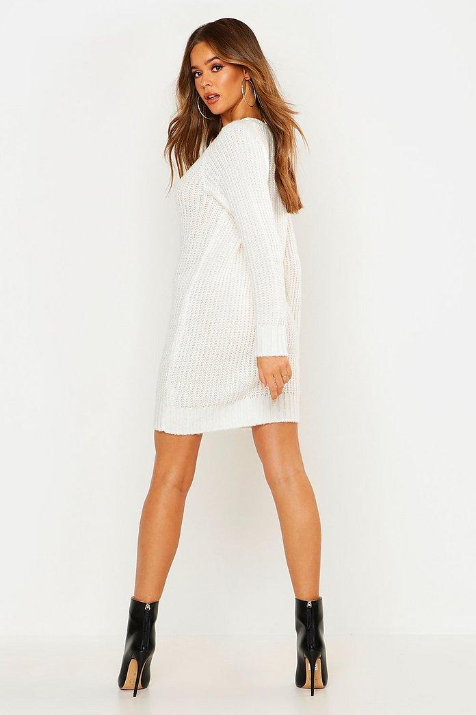 Soft Knit Jumper Dress   Boohoo UK