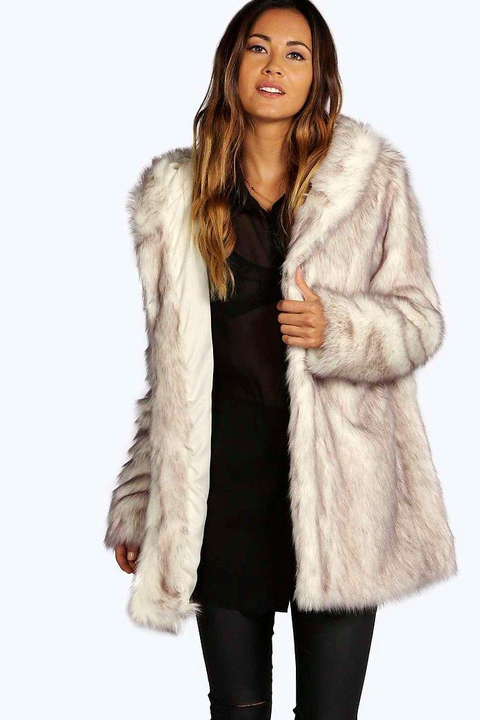 Boutique Hooded Faux Fur Coat Boohoo, Fake Fur Coat Hood