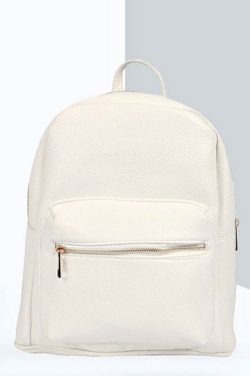 White Lily Pocket Front Backpack