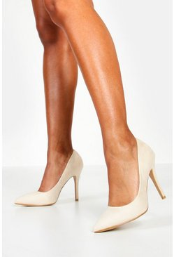 Nude Pointed Court Shoe Heels