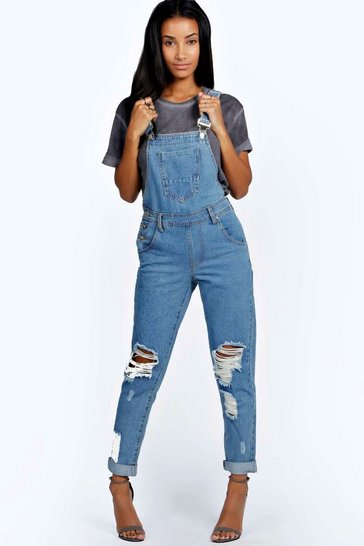 Indigo Stone Wash Denim Dungaree