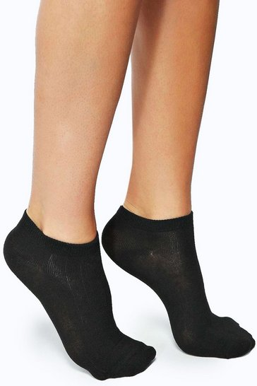 Black Basic Trainer Socks 3 Pack