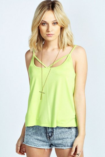 Lime green Vanessa Strap Front Swing Vest