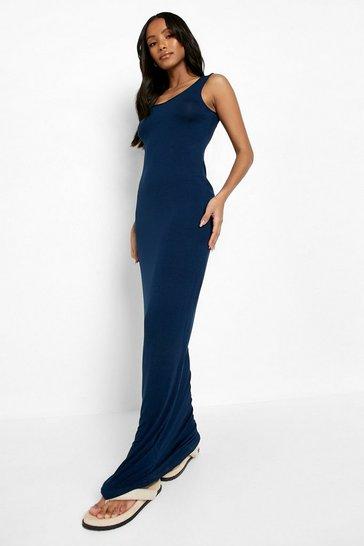 Navy Petite Sandy Scoop Neck Maxi Dress