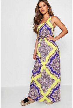Multi Petite Neon Paisley Maxi Dress