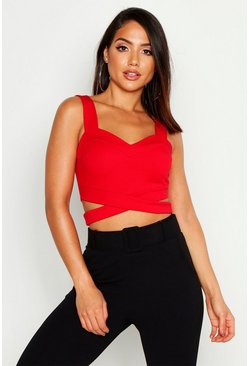 Bralette mit Cut-Out, Rot