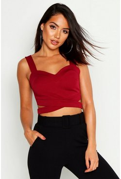 Wine red Cut Out Bralet