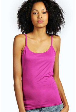 Raspberry pink Basic Strappy Vest