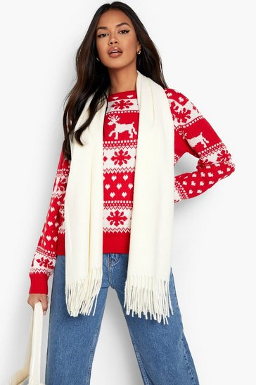 Red Reindeer & Snowflake Christmas Jumper