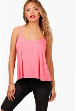 Coral pink Basic Swing Cami