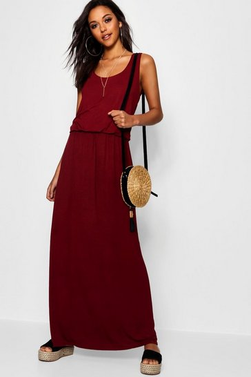 Berry red Racer Back Maxi Dress