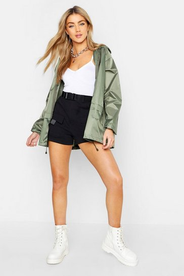 Khaki Hooded Mac