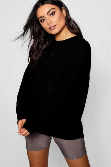 Black Oversized Vintage Jumper