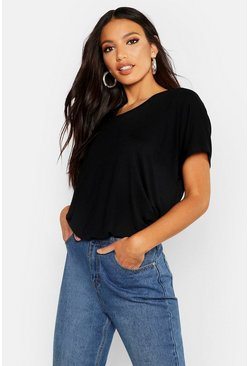 Zwart black Basic Oversized T-Shirt