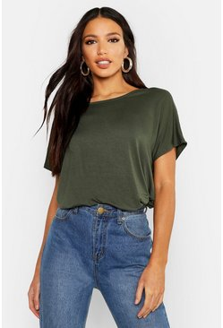 Khaki Basic Oversized T-Shirt