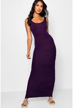 Grape purple Maxi Dress