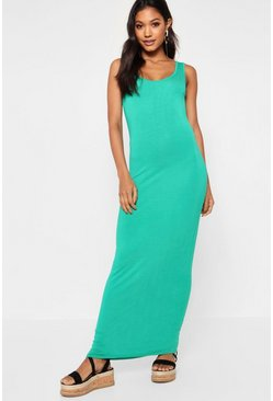 Bright green green Maxi Dress