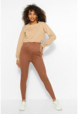 Chocolate Maternity Over The Bump Rib Legging