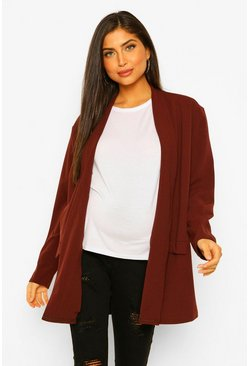 Chocolate brown Maternity Oversized Blazer