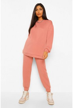 Rust orange Maternity Quilted Oversized Jogger